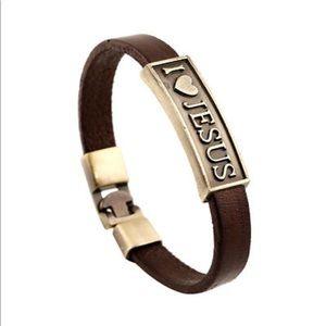 Jewelry - I Love JESUS Leather Bracelet